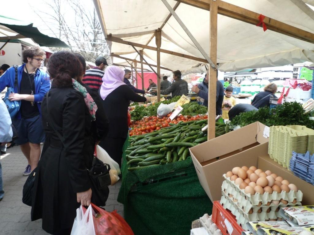 Udvalget af madvarer er stort på det tyrkiske marked.