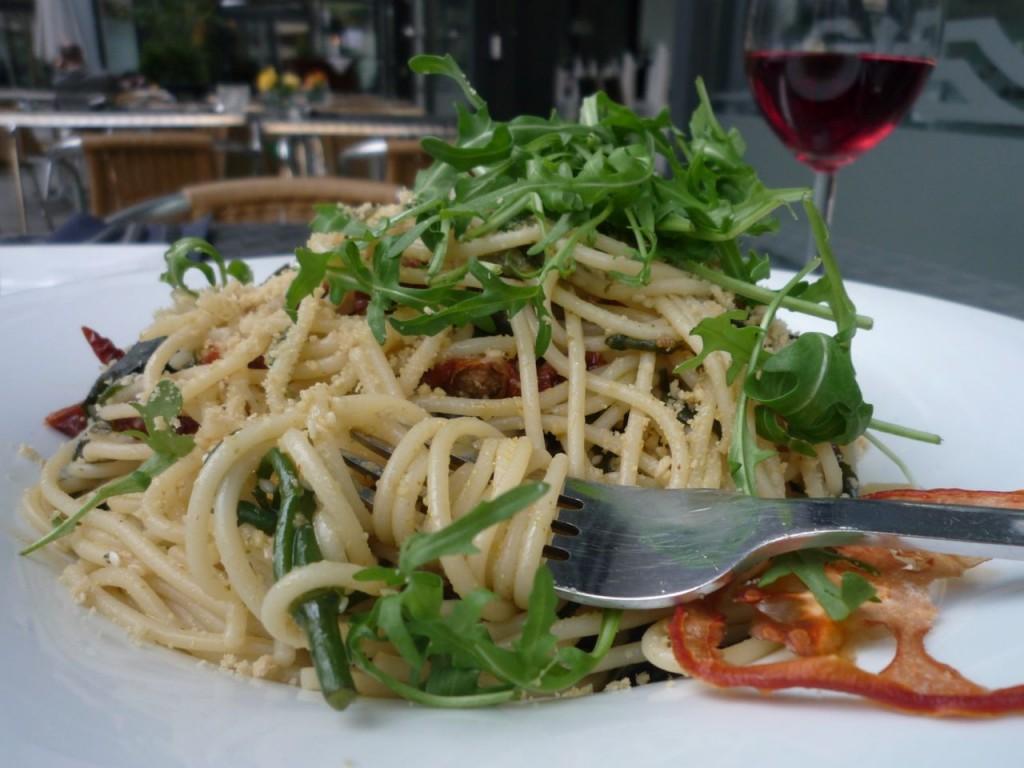 Superlækker spaghettiret på La Mano Verde i Berlin