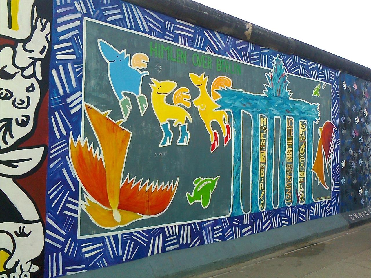 """""""Himlen over Berlin"""" er blevet malet om tre gange – sådan så det ud i 2012."""
