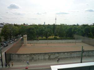 Gedänkstätte Berliner Mauer - Mur og indermur, som de så ud i DDR-tiden